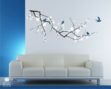Wall Decals Cherry Blossom with Birds (3 Colors) - Vinyl Art Stickers