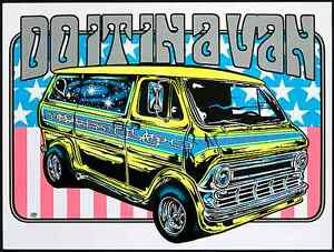 Dirty Donny Do It In a Van Signed Art Print Silkscreen Poster 2011 Ford 70s Mint