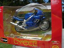BURAGO 1/18 MOTO TRIUMPH TT600 bleue !!!