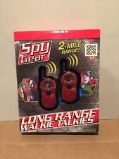Spy Gear 2 Mile Long Range Walkie Talkies Kids Play Activity Game Great Gift New