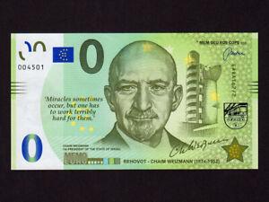 Israel:Chaim Weizmann, Memo 0 Euro, 2021 * Rehovot * 2nd in Series * UNC *