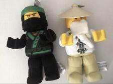"Lego Ninjago Movie Lloyd Minifigure Plush 853764 & Master Wu 853765 12"" Tall"