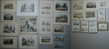 24 originale Stahlstiche Frankreich - Konvolut - ca. 1850
