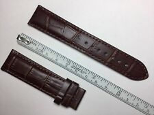 AUTHENTIC TISSOT NEW 21MM BROWN GENUINE CROCOGRAIN LEATHER STRAP BAND BRACELET