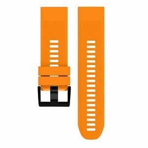 Easy Fit Rubber Strap for Garmin Fenix 5 5X 3 3HR Silicone Watch Band 26mm 22mm