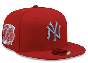 New Era New York Yankees Subway Series Scarlet 59fifty Blue UnderBill Fitted Hat