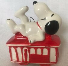 Vtg 1960's Snoopy on Trolly Car United Feature syndicate ornament