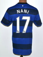 MANCHESTER UNITED 2011/2012 AWAY FOOTBALL SHIRT JERSEY NIKE NANI #17 SIZE S