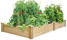 Raised Garden Bed Planter, Cedar Wood w/Divided Frame, EZ Assembly, 4 x 8 x 10.5
