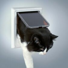 Cat Door Flap 4 Way with Electro Magnetic Ship Collar Lockable by TRIXIE