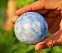 Superb Ball 55mm Blue Celestite Quartz Crystal Stone Healing Energy Stone Sphere