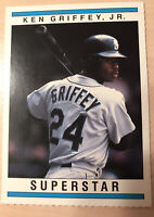 Ken Griffey Jr, Superstar Card, Super Rare 1990's, Hand Cut Perforated Perfectly