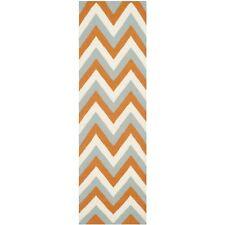 Safavieh Flat weave Wool Teracotta/ Blue 2' 6 x 8' Runner