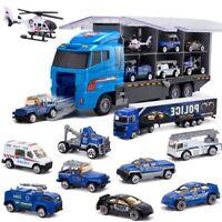 10-En-1 Camion de Transport de Police, Mini Voiture de Jouet MouléE Sous Pr C4C1
