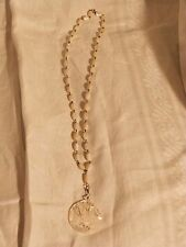 1930's carved pearl Dove Pendant necklace
