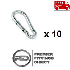 Steel Carabiner Snap Spring Loaded Clip Hook Karabiner Lock Carabina Pack of 10