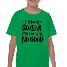 I Solemnly Swear That I Am Up To No Good Kids Harry Potter Inspired T-Shirt Boys