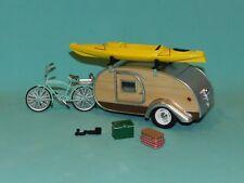 Greenlight Coll. 1/24 1947 Teardrop Trailer (Caravan) With Bike, Kayak MiB