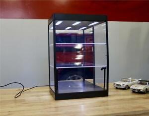 1:18 Scale 3 Shelf Diecast Display Case w LED Lights Car Showcase 3181865