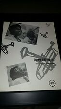 Dizzy Gillespie Verve Records Rare Original Memorial Promo Poster Ad Framed!