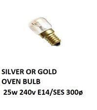 2 X 25w 240v E14/SES 300ø Clear  Lighting Oven Light Bulb OVEN BULB NEW