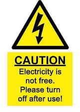 A5 Spass Arbeitsplatz Elektrizität Aufkleber - Spillage Hazard Gesundheit &