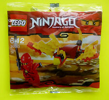 Lego Ninjago 30083 Rosso Kay con Drago Sacchetto plastica nuovo conf. orig.