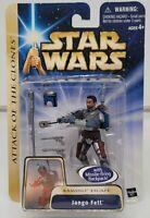 "STAR WARS Attack of the Clones JANGO FETT 3.75"" Action Figure 03 #2 Hasbro 2003"