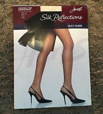 Hanes 115784 Silk Reflections Pantyhose 4 Pack Sz CD Travel Buff 27