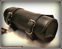 Sacoche de fourche en Cuir Souple - HD sportster iron forty nighster XL shadow