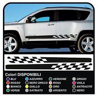 Adesivi laterali Jeep Compass strisce laterali bande adesive compass SPORT 2