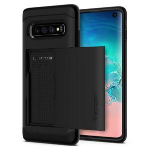 Galaxy S10 S10 Plus S10e Spigen®[Slim Armor CS] Card Slot Wallet Case Cover