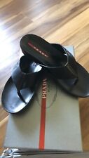 Prada Leather Flip Flops Unisex 6.5-7