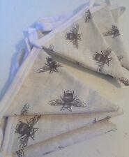 Handmade Fryetts Bee fabric Cotton Bunting