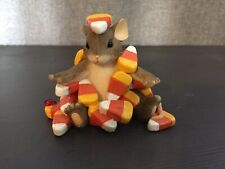 Charming Tails Candy Corn Caper Figurine Fitz and Floyd 85/104 Halloween Mouse