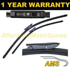 """DIRECT FIT FRONT AERO WIPER BLADES PAIR 23"""" + 23"""" FOR SAAB 9-5 SALOON 2007 ON"""