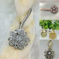 1Pc Magnetic Crystal Flower Curtain Tiebacks Tie Backs Buckle Holdbacks Home
