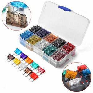 ATC ATO ATM AUTO Boat Truck Blade FUSES Kit Case Assorted Car Fuse Assortment