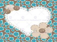 PAINTINGS PATTERN ILLUSTRATION LOVE HEART FLORAL ABSTRACT PRINT POSTER MP3246B