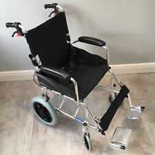 Ultra Lightweight Folding ALUMINIUM Travel Wheelchair, Portable Transit Chair