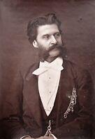 Composer Johann Strauss orig 1877 Photo & French magazine