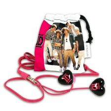1D One Direction Earbuds with Carry Pouch & Extra Ear Cushion Heart Design NWT