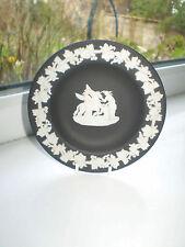 Wedgwood Black Jasperware Dish 11 cm Dia Winged Horse British