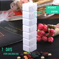 Weekly 7 Day Tablet Pill Box Holder Medicine Storage Organizer Case Container