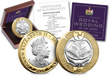 2018 Royal Wedding Silver Proof £2 Two Pound Coin Isle of Man