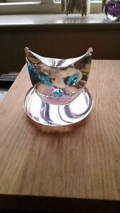 ART GLASS CAT PAPERWEIGHT