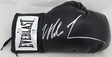 MIKE TYSON AUTOGRAPHED BLACK EVERLAST BOXING GLOVE RH IN SILVER BECKETT 155771