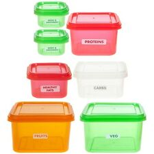 Portion Control 7pc Set Meal Containers Protein Shaker Healthy Bundle BPA