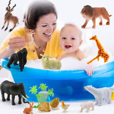 12Pcs/Set Colours Zoo Animal Figure Model Children Educational Children Toys