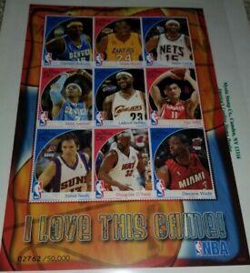Gambia 2007 NBA Greatest Players KOBE BRYANT All Stars Sheet of 9 MNH Lebron Yao